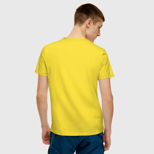 Мужская футболка с принтом Херня, вид сзади #2