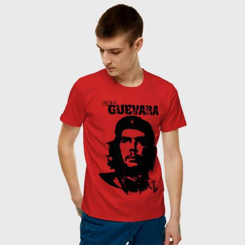 Мужская футболка с принтом Че гевара, фото на моделе #1