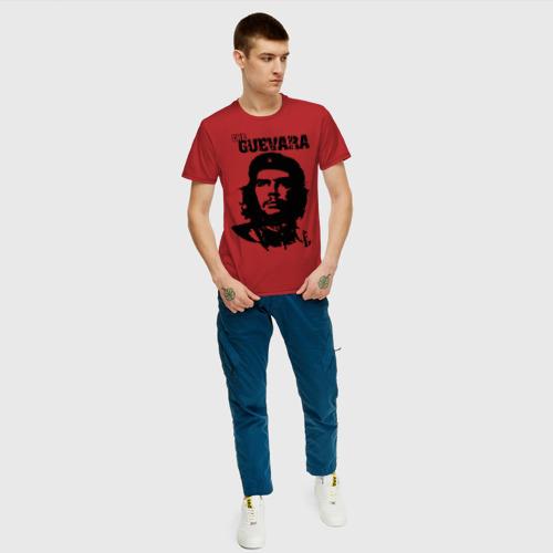 Мужская футболка с принтом Че гевара, вид сбоку #3