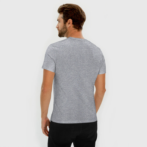 Мужская футболка премиум с принтом Ария, вид сзади #2
