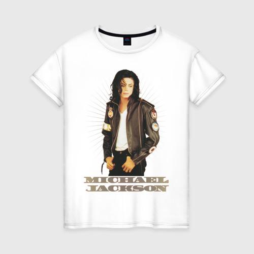 Женская футболка с принтом Michael Jackson (4), вид спереди #2