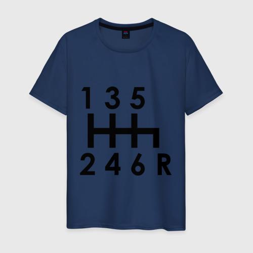 Мужская футболка с принтом Коробка передач, вид спереди #2