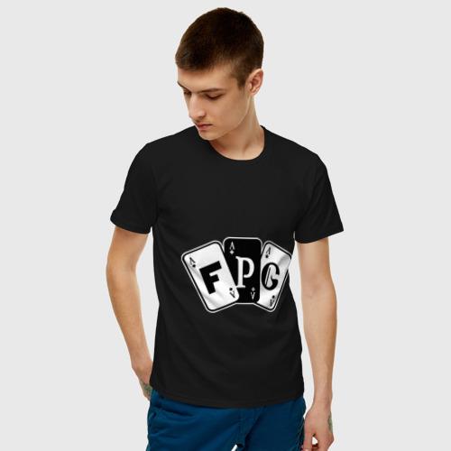 Мужская футболка с принтом FPG, фото на моделе #1