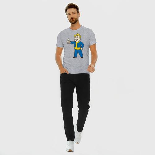 Мужская футболка премиум с принтом Мальчик из Fallout, вид сбоку #3