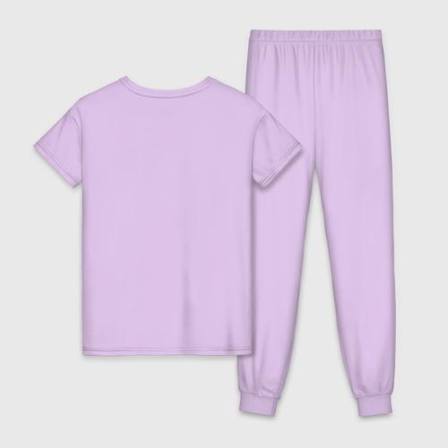 Женская пижама хлопок с принтом Я люблю Серёжу, вид сзади #1