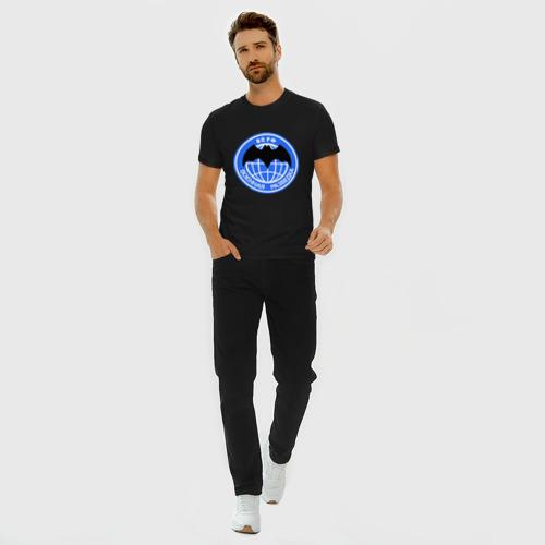 Мужская футболка премиум с принтом ВС РФ Военная разведка, вид сбоку #3