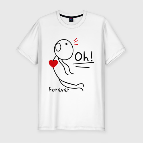 Мужская футболка премиум с принтом Магнит для сердца (мужская), вид спереди #2