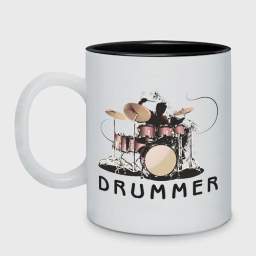 Кружка двухцветная Drummer