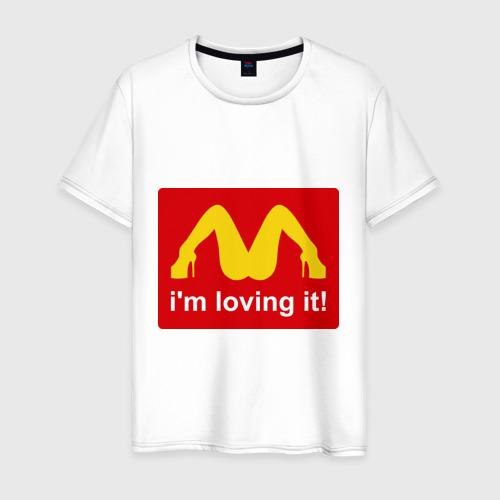 Мужская футболка с принтом I\'m lovin\' it!, вид спереди #2