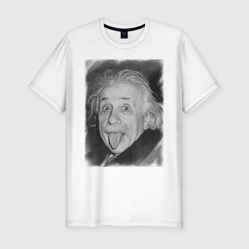 Мужская футболка премиум Энштейн язык