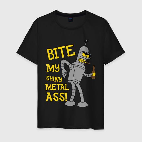 Мужская футболка BENDER (укуси мой полированный металлический зад)