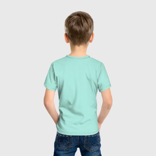 Детская футболка с принтом Не учите меня рокировке, вид сзади #2