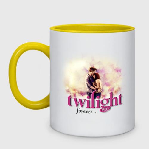 Кружка двухцветная Twilight forever