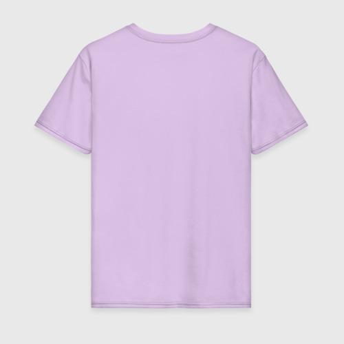 Мужская футболка с принтом Это волчанка, вид сзади #1