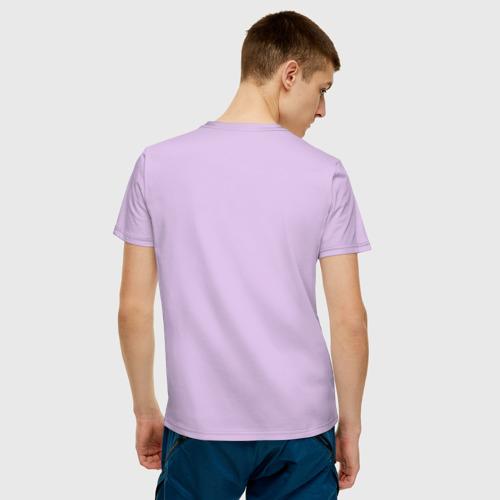 Мужская футболка с принтом Это волчанка, вид сзади #2