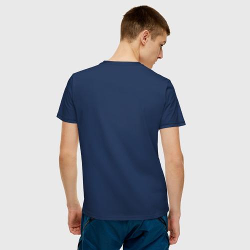 Мужская футболка с принтом Bender из-под футболки, вид сзади #2