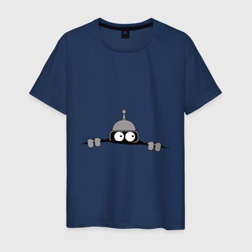 Мужская футболка с принтом Bender из-под футболки, вид спереди #2
