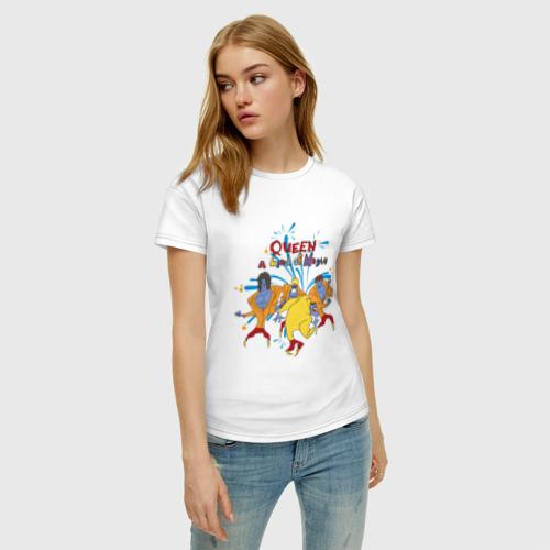 Женская футболка с принтом Queen A Kind of Magic, фото на моделе #1