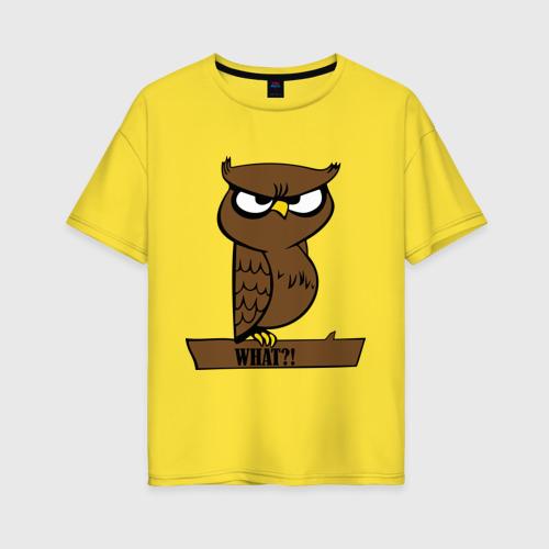 Женская футболка oversize What?