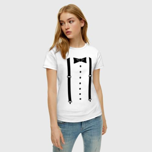 Женская футболка с принтом Gentleman, фото на моделе #1