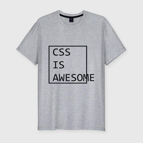 Мужская футболка премиум CSS is awesome