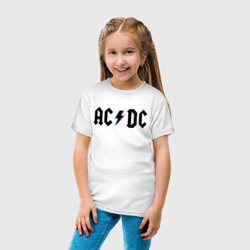 Детская футболка с принтом ACDC, вид сбоку #3