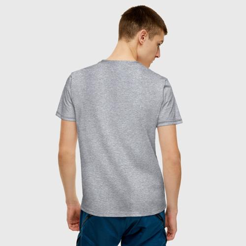 Мужская футболка с принтом Настоящий друг, вид сзади #2