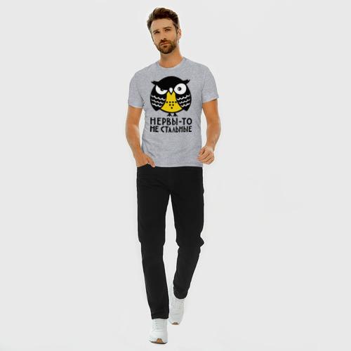 Мужская футболка премиум с принтом Нервы то не стальные, вид сбоку #3