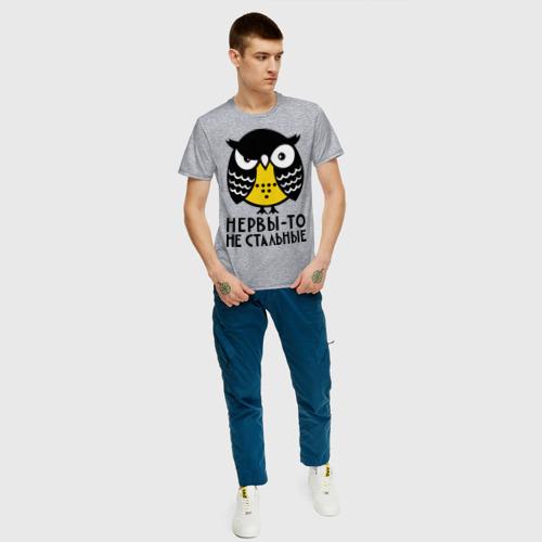 Мужская футболка с принтом Нервы то не стальные, вид сбоку #3