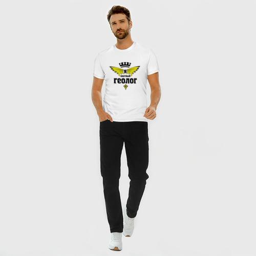 Мужская футболка премиум с принтом Знатный геолог, вид сбоку #3