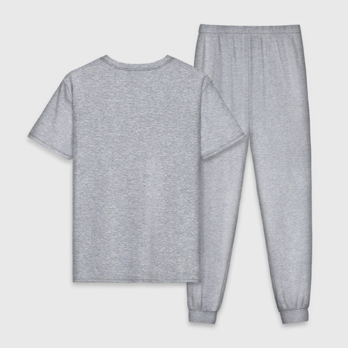 Мужская пижама хлопок с принтом Вежлив, добр, свой, вид сзади #1