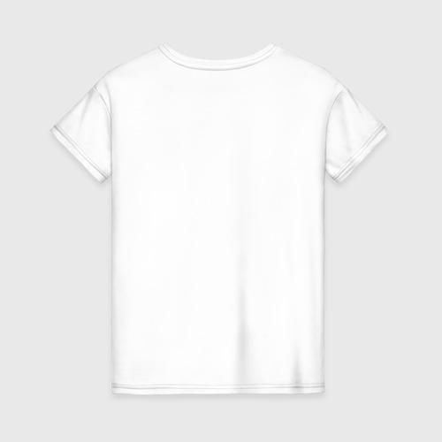 Женская футболка с принтом Иду причинять добро, вид сзади #1