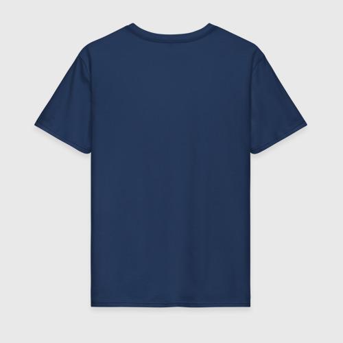 Мужская футболка с принтом Иду причинять добро, вид сзади #1