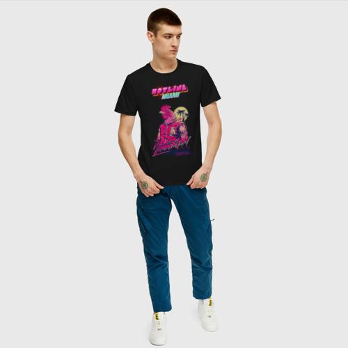 Мужская футболка с принтом Hotline Miami, вид сбоку #3