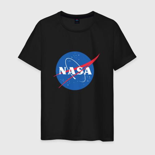 Мужская футболка с принтом NASA, вид спереди #2