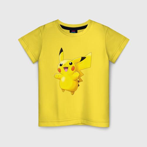 Детская хлопковая футболка Пикачу