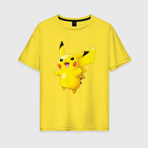 Женская футболка oversize Пикачу