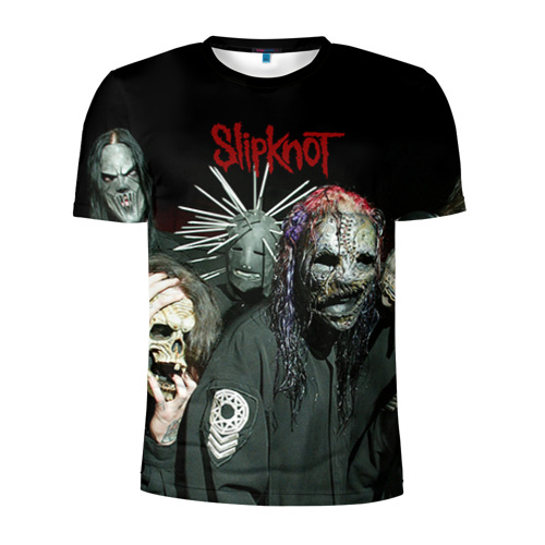Мужская футболка 3D спортивная Slipknot