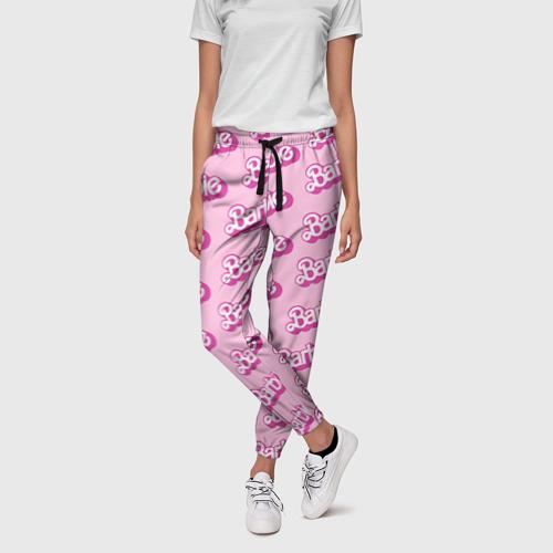 Женские брюки 3D с принтом Barbie, фото на моделе #1