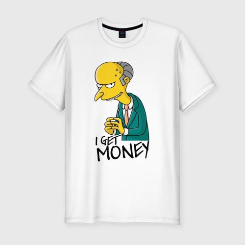 Мужская футболка премиум Mr Burns get money