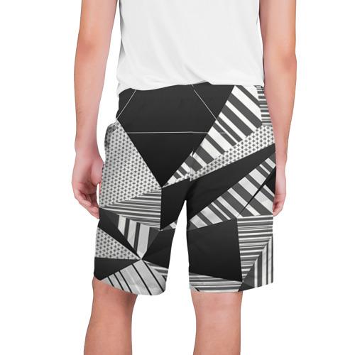 Мужские шорты 3D с принтом Геометрия, вид сзади #1