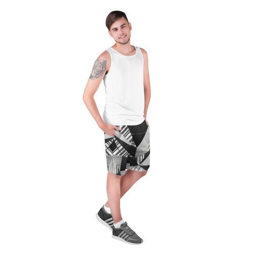 Мужские шорты 3D с принтом Геометрия, фото на моделе #1