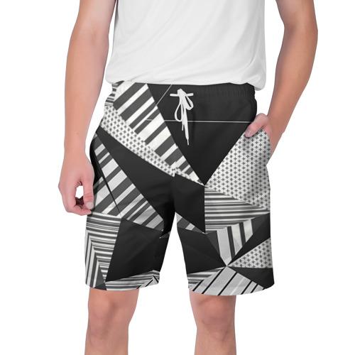 Мужские шорты 3D с принтом Геометрия, вид спереди #2