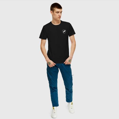 Мужская футболка с принтом Шеврон ОДОН, вид сбоку #3