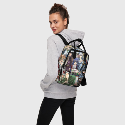 Женский рюкзак 3D с принтом Фейри тейл все герои, вид сбоку #3