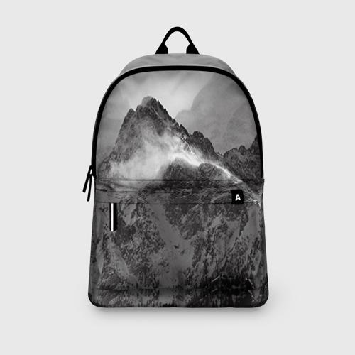 Рюкзак 3D с принтом Горы, вид сбоку #3