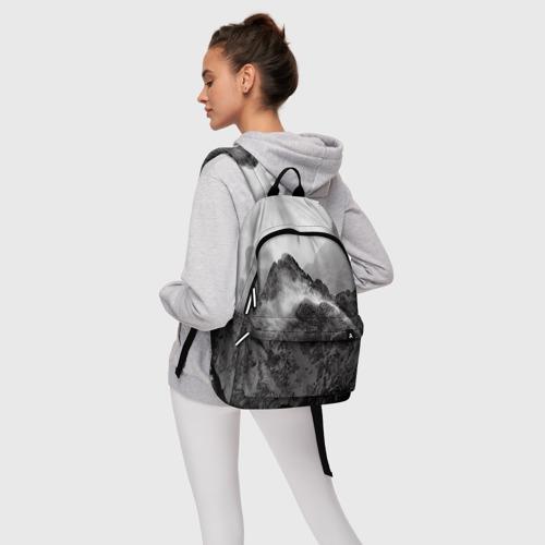 Рюкзак 3D с принтом Горы, фото #4