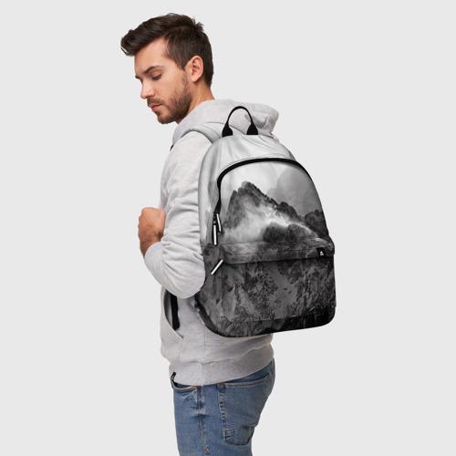 Рюкзак 3D с принтом Горы, фото на моделе #1
