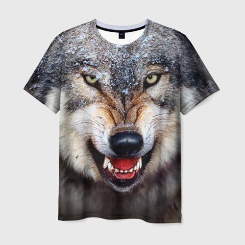 Мужская 3D футболка Волк