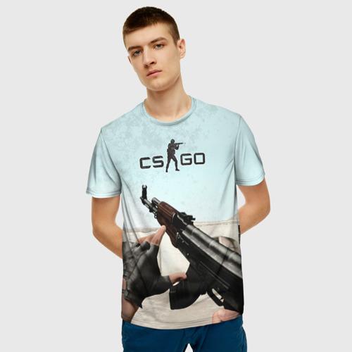 Мужская 3D футболка с принтом Counter Strike, фото на моделе #1